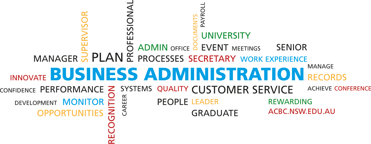 A variety of thees in business administration