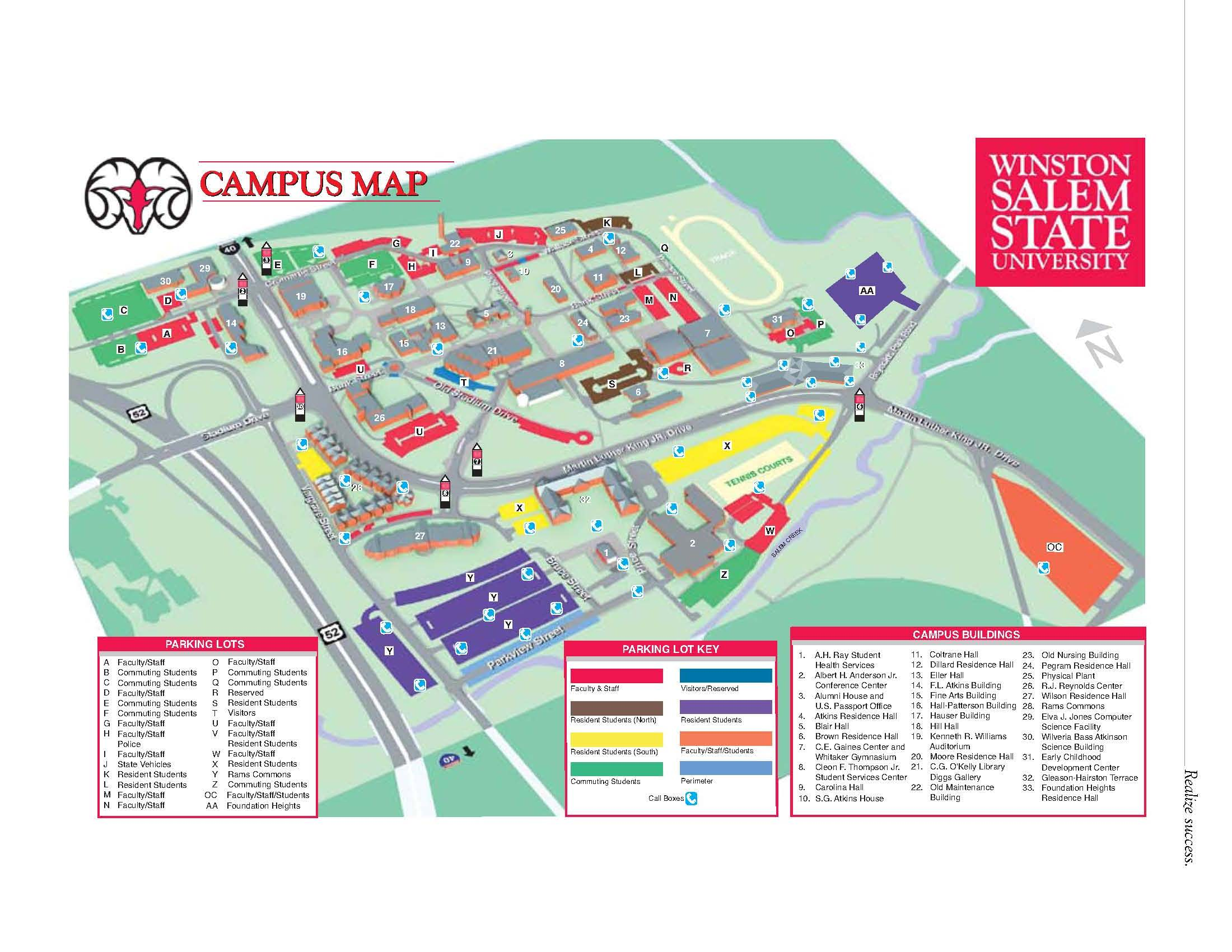 campus map. faculty  winstonsalem state university  acalog acms™
